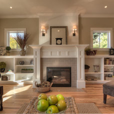 Traditional Family Room by JPID Construction & Design LLC