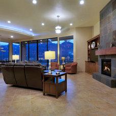 Contemporary Family Room by Process Design Build, L.L.C.