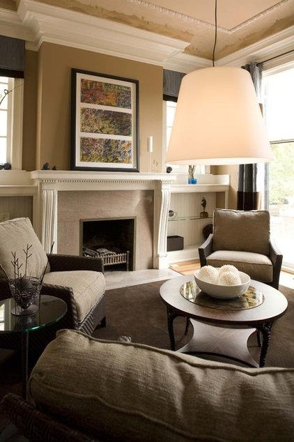 Contemporary Family Room by Sylvia Martin