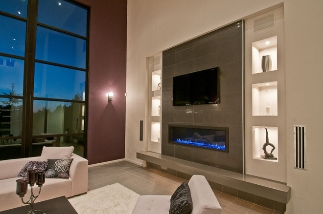 Modern Family Room by dC Fine Homes & Interiors