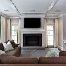 Traditional Family Room by DeRosa Builders LLC