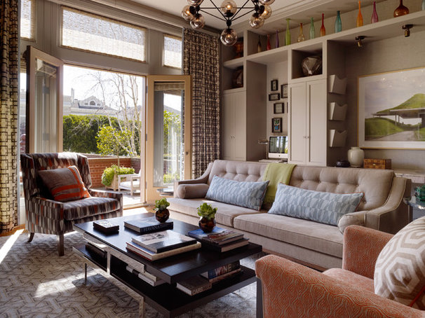 Contemporary Family Room by Jeffers Design Group