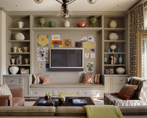 Built In Tv Wall Houzz