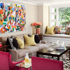 Eclectic Family Room by Tamara Mack Design