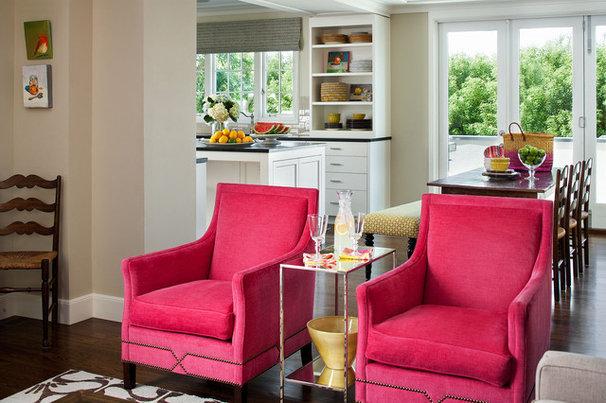 Traditional Family Room by Tamara Mack Design