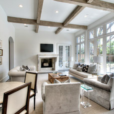 Transitional Family Room by Parker House Inc.