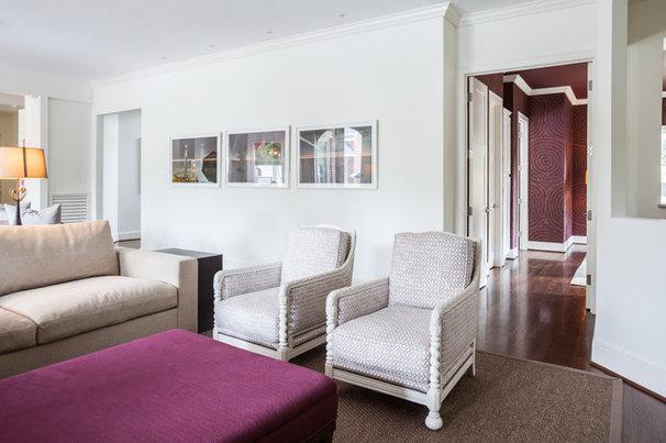 Contemporary Family Room by Laura U, Inc.