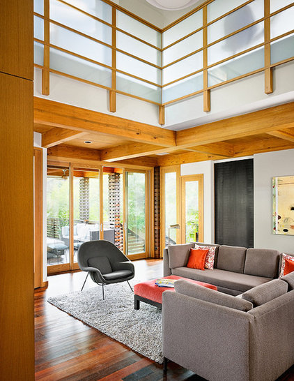 asian family room by Webber + Studio, Architects