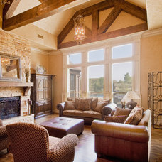 Traditional Family Room by Tatum Building Corp