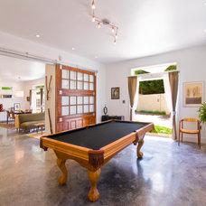 Contemporary Family Room by HEIDI SCHWEIZER, Architect-Builder