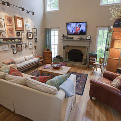eclectic family room tbg design