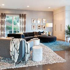 Contemporary Family Room by Vidabelo Interior Design