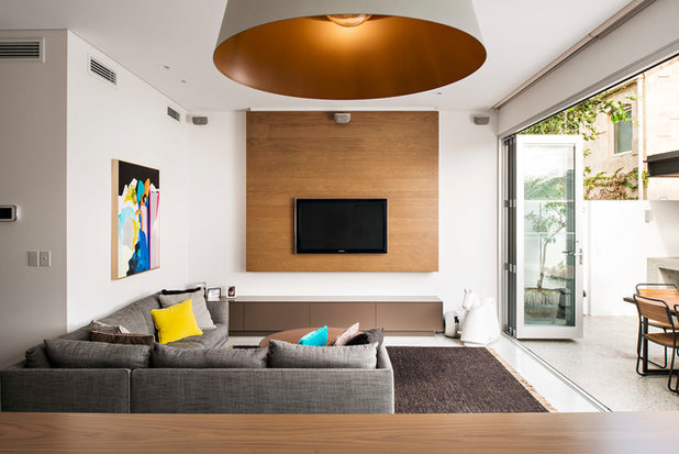 Contemporary Family Room by Mata Design Studio