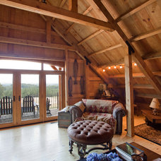 Traditional Family Room by Sand Creek Post & Beam