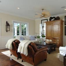 Beach Style Family Room by PB Built