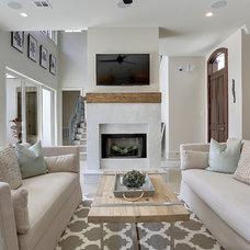 Contemporary Family Room by Maison de Reve Builders LLC