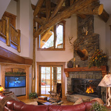 Traditional Family Room by Ellis Nunn Architects