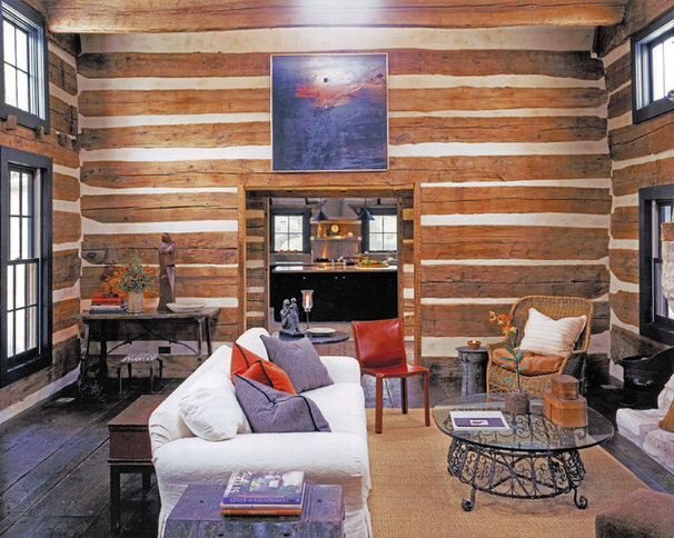 Rustic Family Room by Shiflet Group Architects