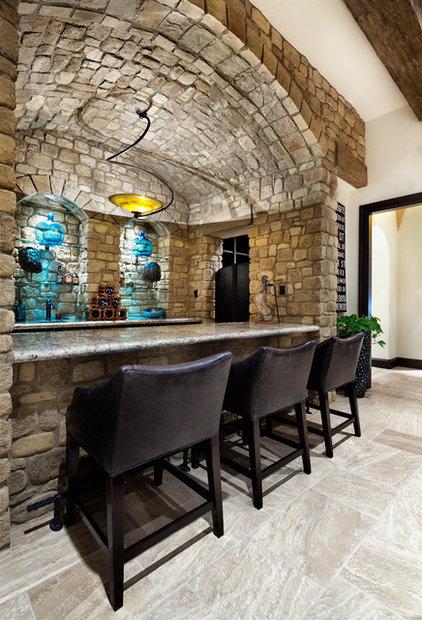 Mediterranean Family Room by JAUREGUI Architecture Interiors Construction