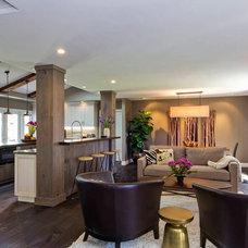 Contemporary Family Room by Hamilton-Gray Design, Inc.
