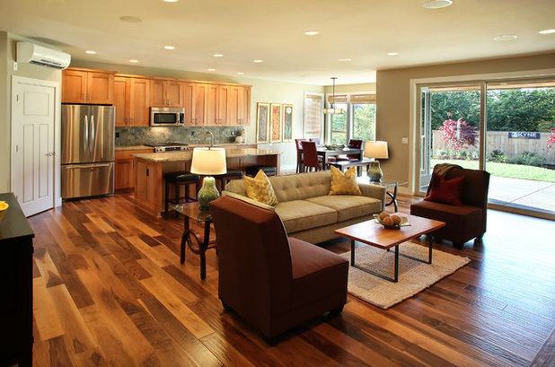Contemporary Family Room by nicole helene designs