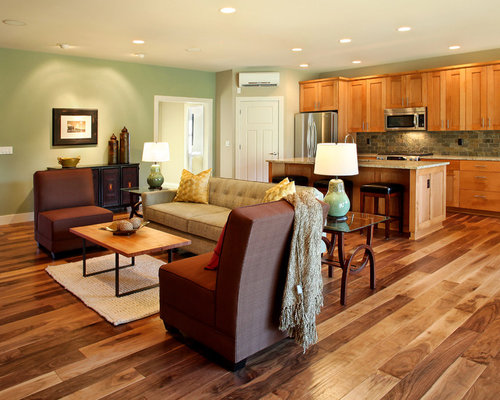 Acacia wood floor houzz for Acacia kitchen cabinets