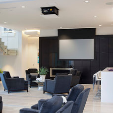 Contemporary Family Room by ZIO Group, LLC
