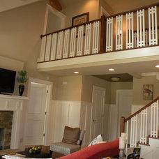 Farmhouse Family Room by The Aldrich Group, LLC
