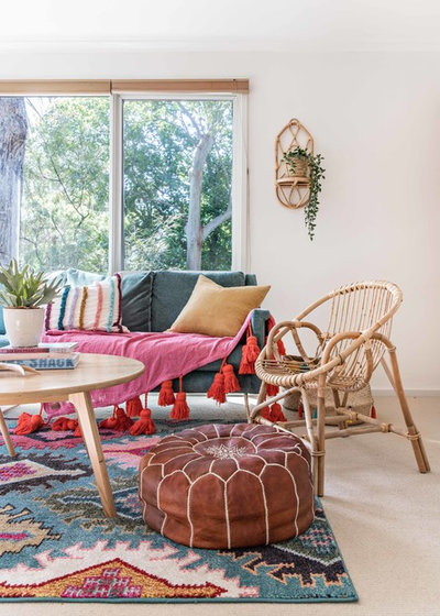 Beach Style Family Room by Jessi Eve