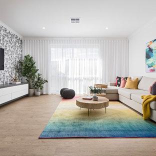 Contemporary family room in Perth.