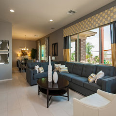 contemporary family room by Meritage Homes