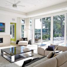Contemporary Family Room by Alvarez Homes