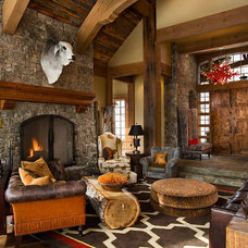 Contemporary Family Room by Teton Heritage Builders