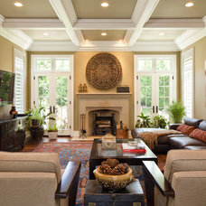 Traditional Family Room by Highgate Builders