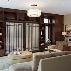 Asian Family Room by The Breakfast Room, Ltd
