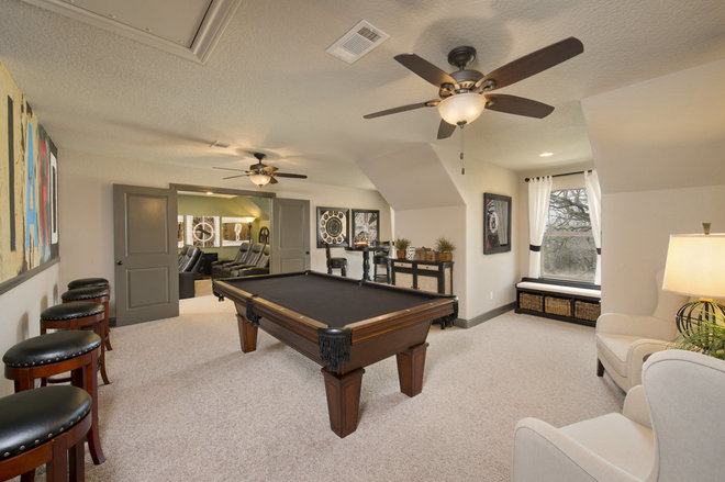 Traditional Family Room by Tilson Homes