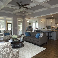 Transitional Family Room by Homes By Dickerson