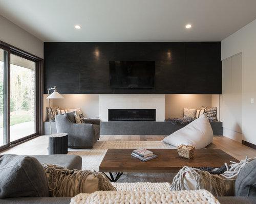 houzz contemporary family room design ideas remodel pictures - Family Room Design Ideas