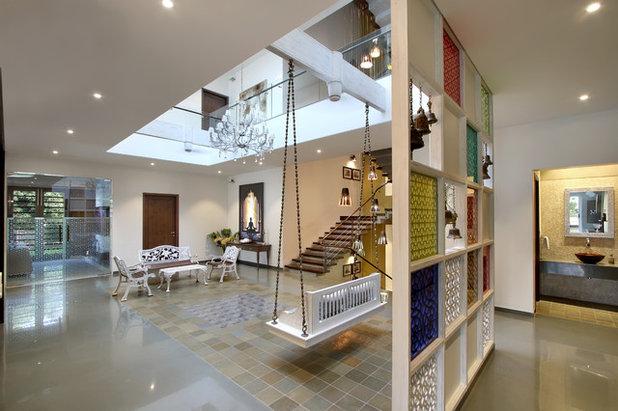 Contemporary Family Room by Dipen Gada and Associates