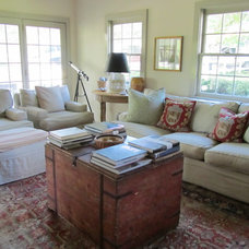 Traditional Family Room by Jancy Ervin Interiors