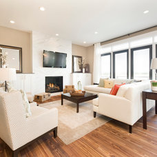 Contemporary Family Room by Trickle Creek Custom Homes