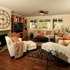 Transitional Family Room by La-Z-Boy Furniture Galleries