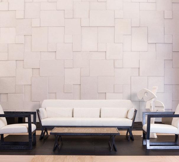 Modern Family Room by Coronado Stone Products