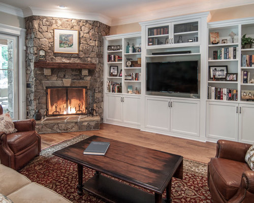 Corner Fireplace Built In Houzz