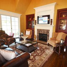 Farmhouse Family Room by Jimmy Nash Homes