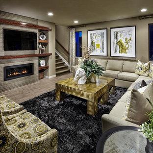 Linear Fireplace Houzz