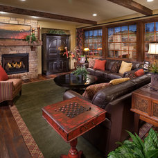 Mediterranean Family Room by Celebrity Communities