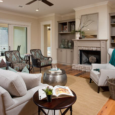 Traditional Family Room by Shoreline Construction and Development