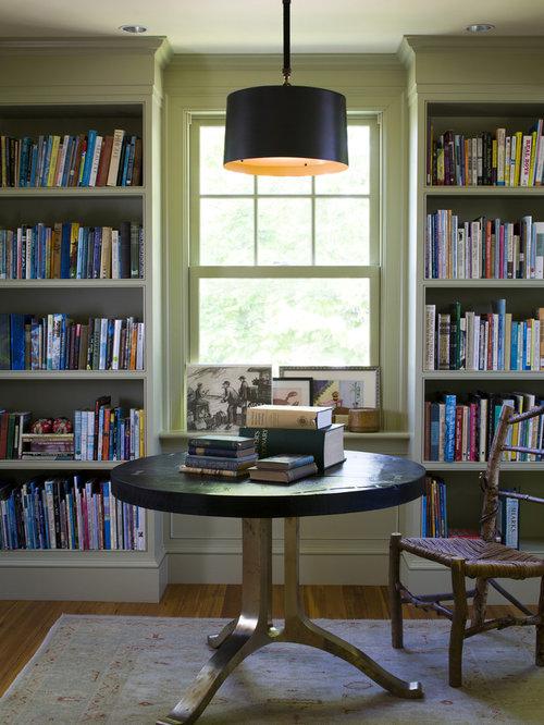 Built In Bookcases Around Windows Houzz