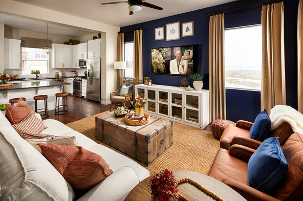 Transitional Family Room by David Weekley Homes